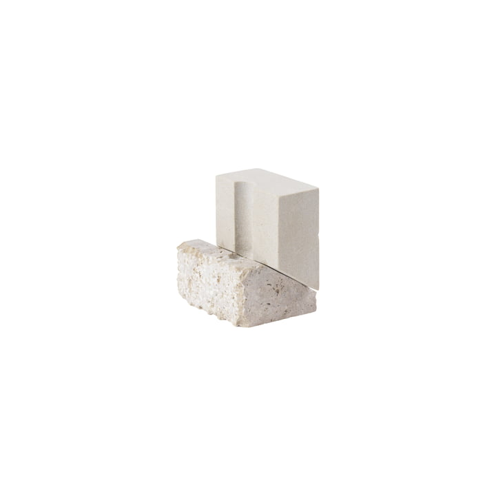 Offset Candle holder H 10 cm from Kristina Dam Studio in light grey