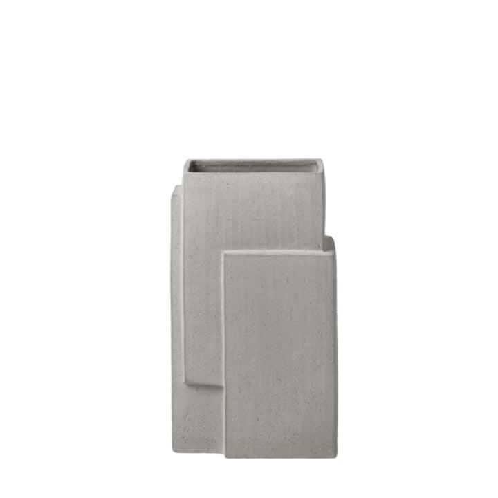 Monolith Vase H 35 cm from Kristina Dam Studio in grey