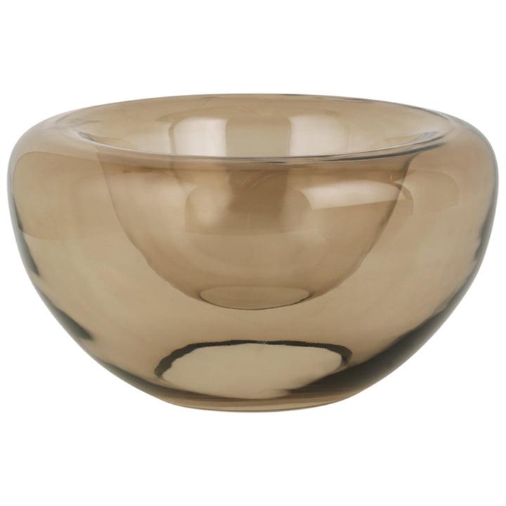 Opal Bowl H 20 x Ø 36 cm from Kristina Dam Studio in brown topaz