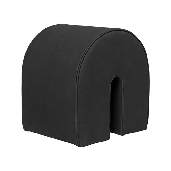 Curved Pouf, H 42 cm from Kristina Dam Studio in black