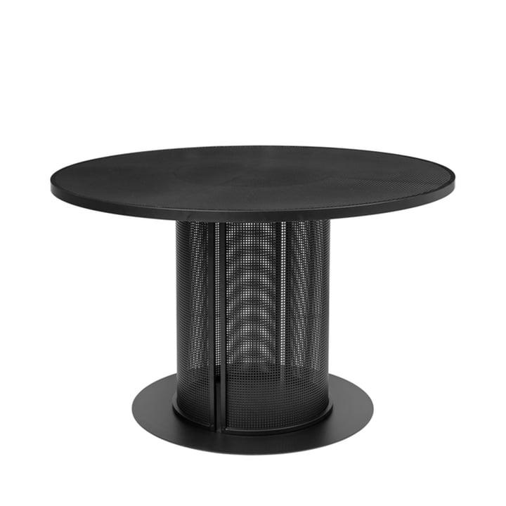 Bauhaus Dining table Outdoor Ø 120 cm from Kristina Dam Studio in black
