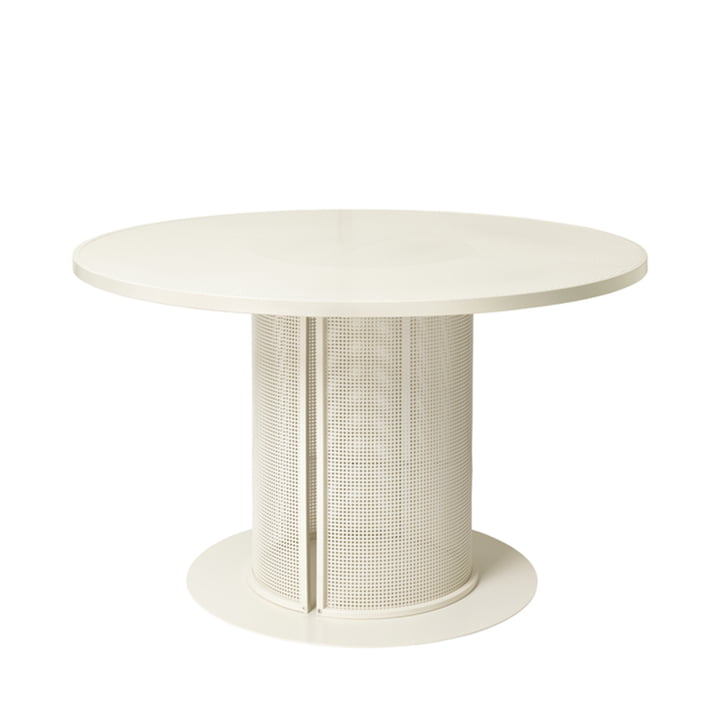 Bauhaus Dining table Outdoor Ø 120 cm from Kristina Dam Studio in beige
