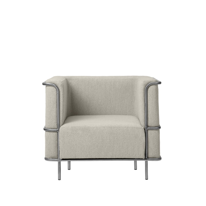 Modernist Lounge armchair from Kristina Dam Studio in beige (Bouclé)