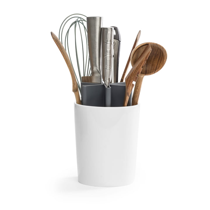 The Angle kitchen organizer from Born in Sweden , grey / white glossy