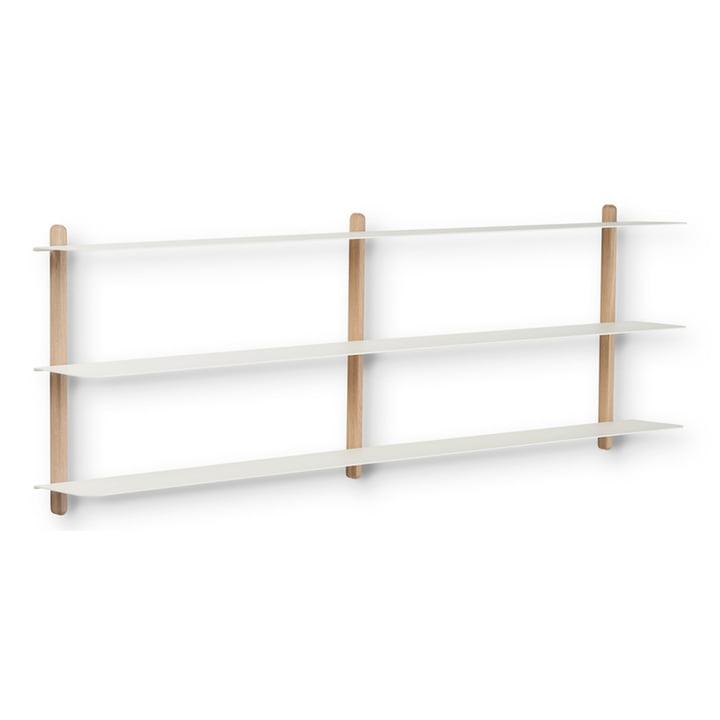 The Nivo wall shelf D from Gejst , light oak / white
