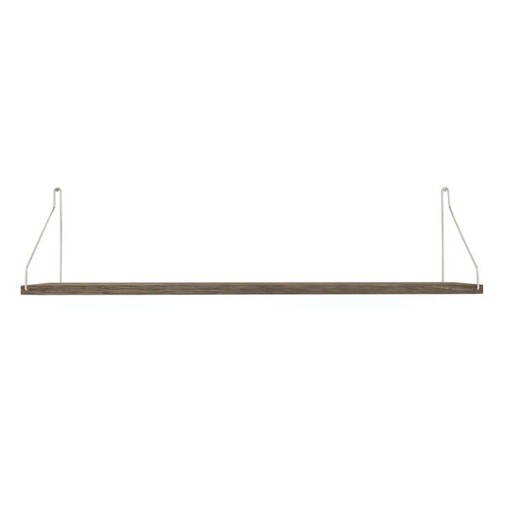 Shelf Shelf 80 x 20 cm from Frama in dark oiled oak / stainless steel