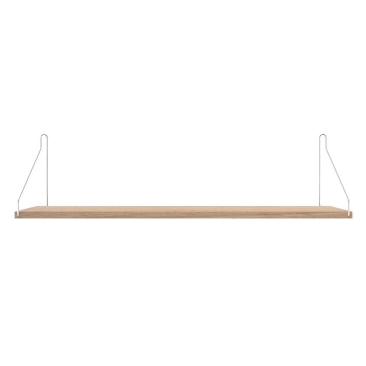 Shelf Shelf 80 x 20 cm from Frama in white oiled oak / stainless steel