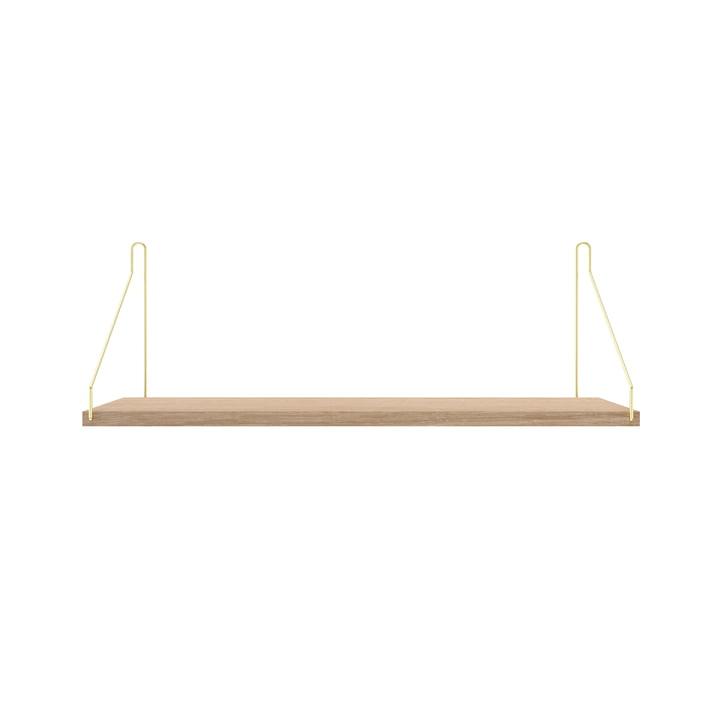 Shelf Shelf 60 x 20 cm from Frama in white oiled oak / brass