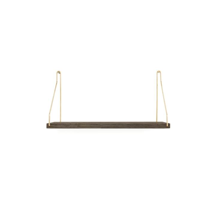 Shelf Shelf 40 x 20 cm from Frama in dark oiled oak / brass