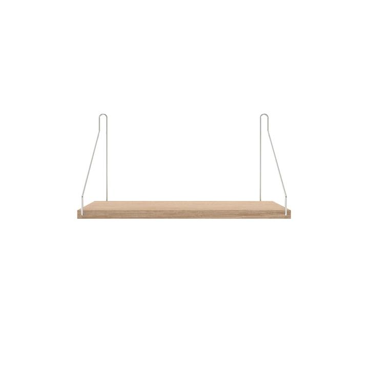 Shelf Shelf 40 x 20 cm from Frama in white oiled oak / stainless steel