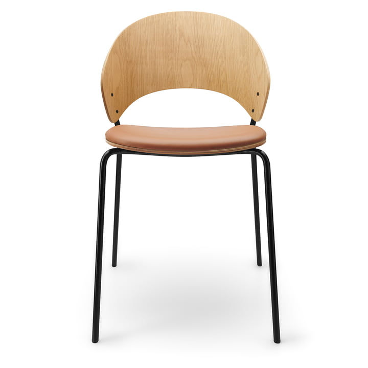 The Dosina chair with seat cushion from Eva Solo , cognac / light oak / black