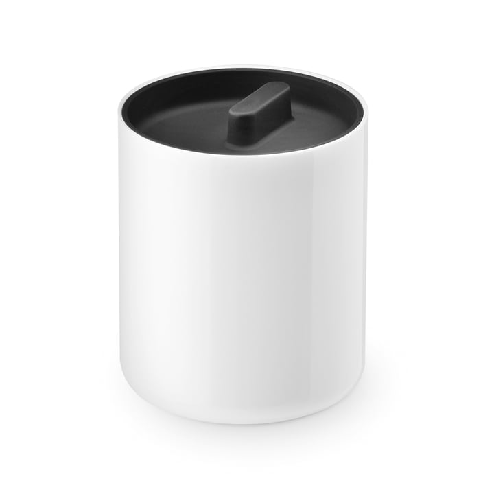 The Lunar lidded tin from Depot4Design , Ø 10 cm, white / black