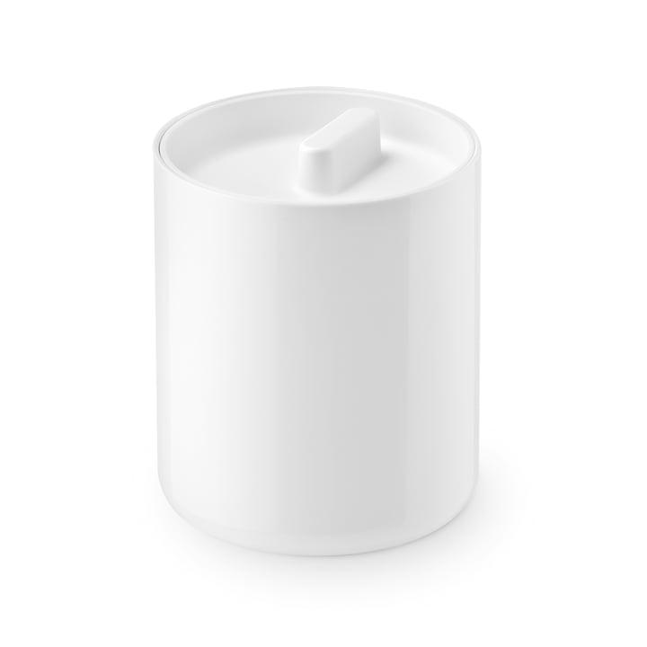 The Lunar lidded tin from Depot4Design , Ø 10 cm, white / white