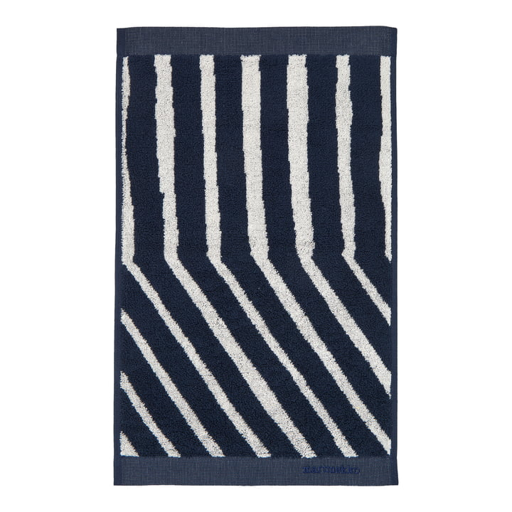 Kalasääski guest towel from Marimekko in the colours dark blue / off-white