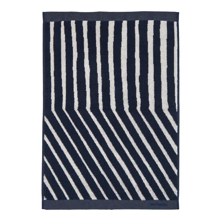 Kalasääski towel from Marimekko in the colours dark blue / off-white