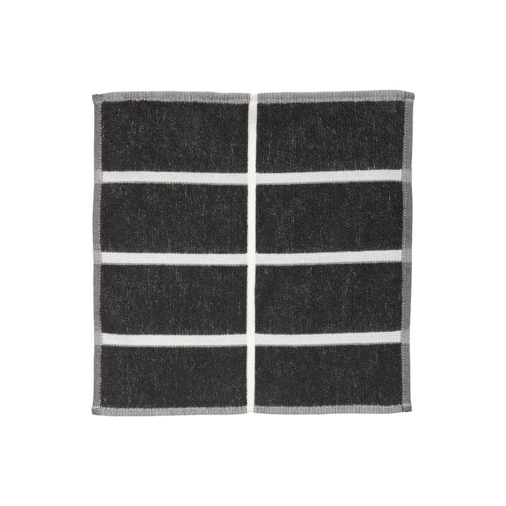 Tiiliskivi Mini towel from Marimekko in the colours dark grey / cinnamon / powder