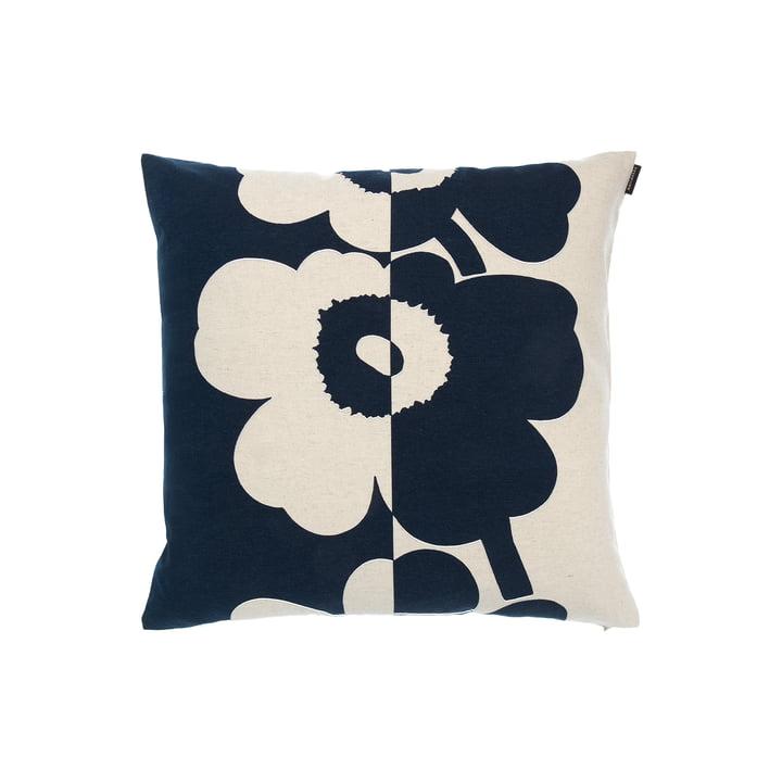 Unikko pillowcase from Marimekko in the version cotton white / dark blue