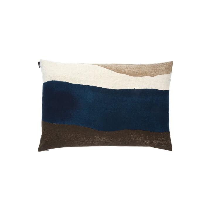 Joiku Pillowcase from Marimekko in the colours brown / dark blue / beige