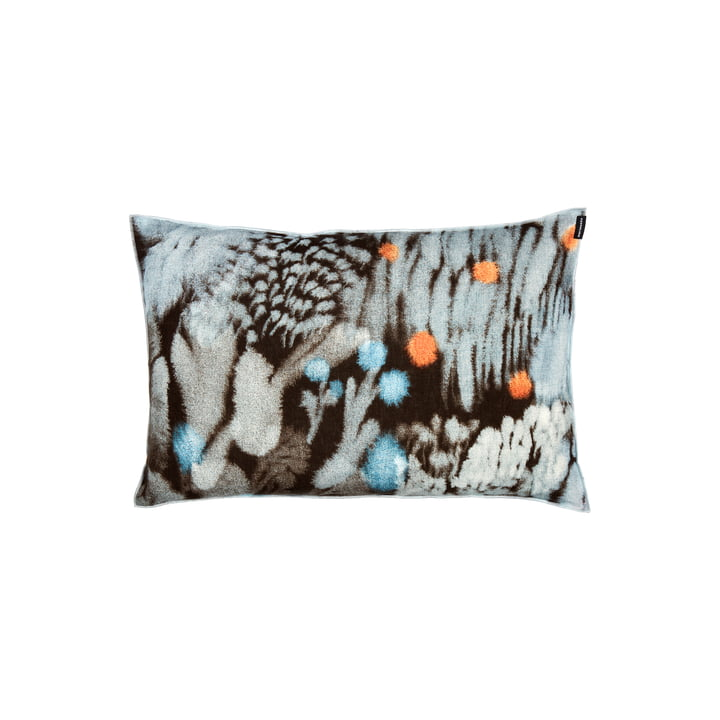 Kuisma pillowcase from Marimekko in the colours dark brown / red / blue