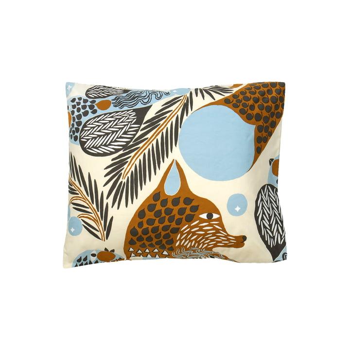 Ketunmarja cushion cover from Marimekko in the colours dark grey / cinnamon / light blue