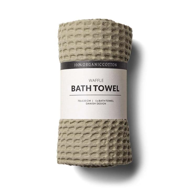 The bath towel with waffle structure by Humdakin, 70 x 135 cm, oak