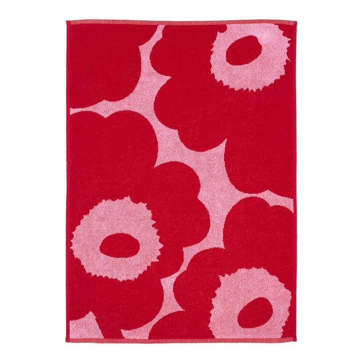 Marimekko - Unikko Towel 50 x 100 cm, pink / red