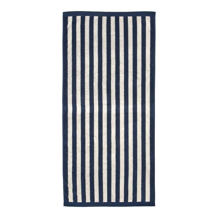 Marimekko - Kaksi Raitaa Bath towel 70 x 150 cm, sand / dark blue