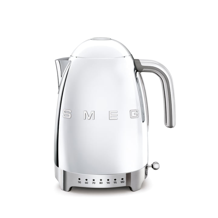 Kettle KLF04 (variable temperature control), 1,7 l from Smeg in chrome