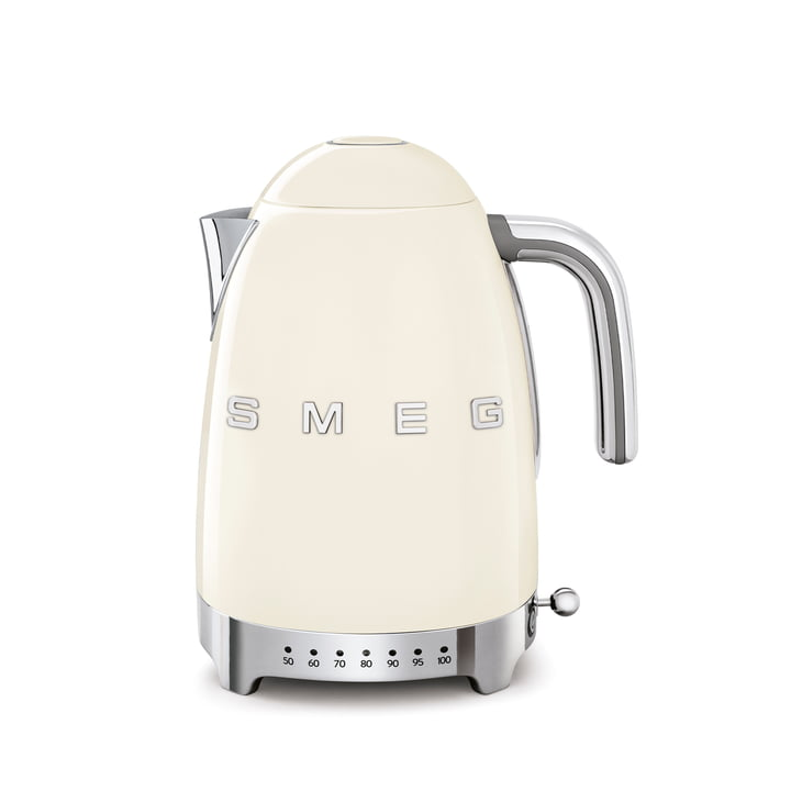 Kettle KLF04 (variable temperature control), 1.7 l from Smeg in cream