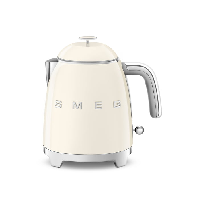 Mini water boiler KLF05 in 50's retro style by Smeg in cream