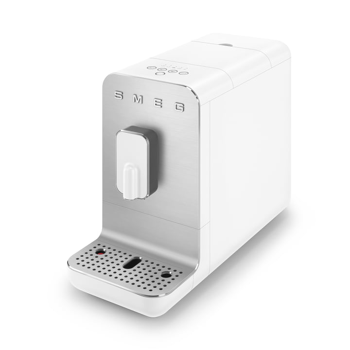 Fully automatic coffee machine BCC01 Basic 50's Retro Style from Smeg in white matt