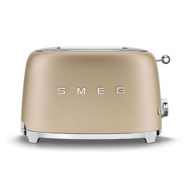 2-slice toaster TSF01 from Smeg in matt champagne