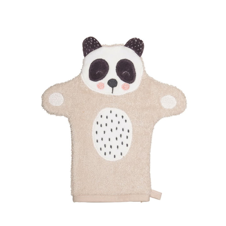 The Penny Panda children's washing glove from Södahl , 11 x 21 cm, natural