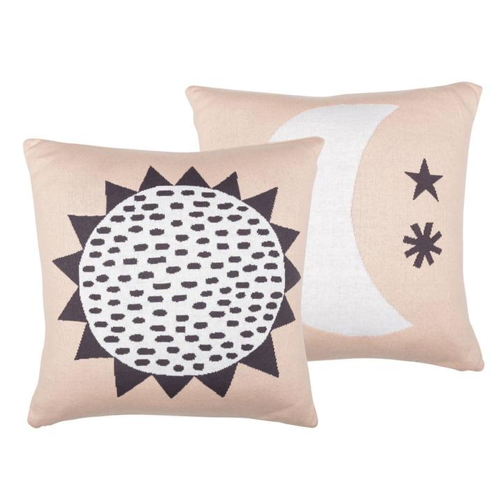 Sun & Moon Cushion 50 x 50 cm from Södahl in pastel