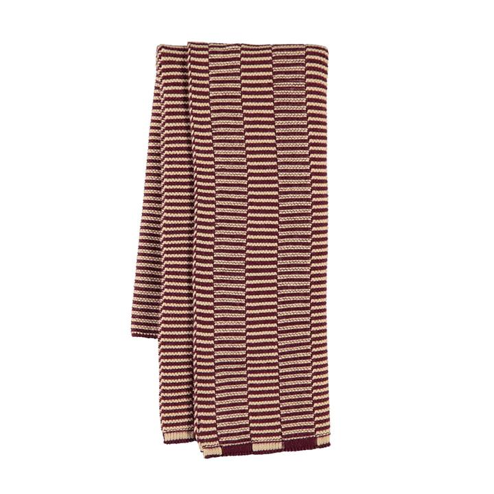 Stringa tea towel 38 x 58 cm from OYOY in aubergine / rose