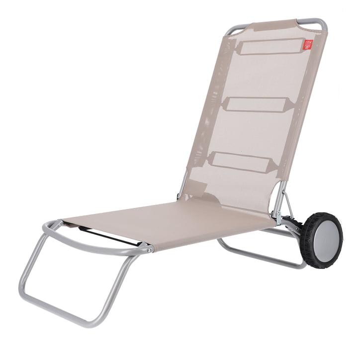 Fiam - Wheely Beach chair, taupe