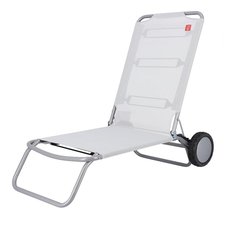 Fiam - Wheely Beach chair, silver-grey