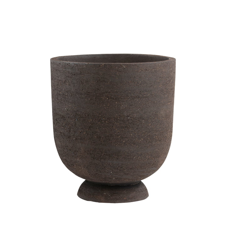 The Terra plant pot and vase from AYTM , Ø 40 x H 45 cm, brown