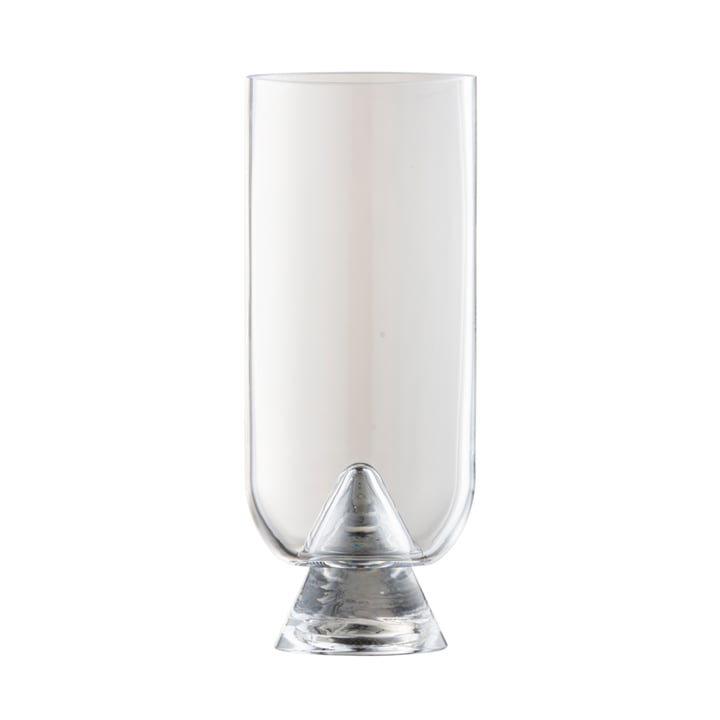 The Glacies Vase from AYTM , Ø 10,6 x H 23,5 cm, clear