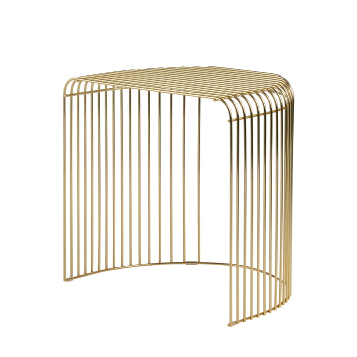 The Curva side table from AYTM , gold