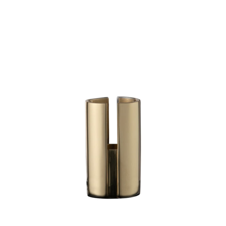 The Sol candle holder from AYTM , Ø 2,9 x H 4,8 cm, gold