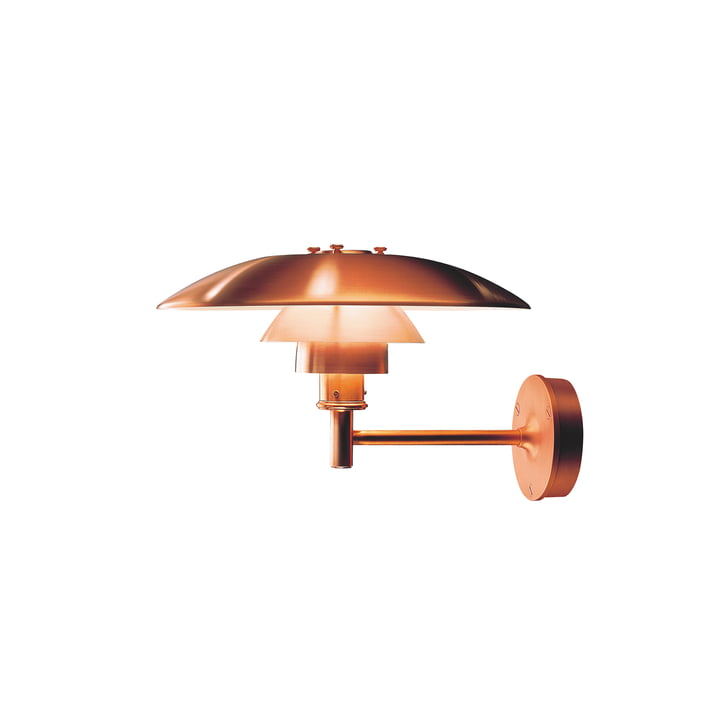 PH Wall lamp Outdoor, copper by Louis Poulsen