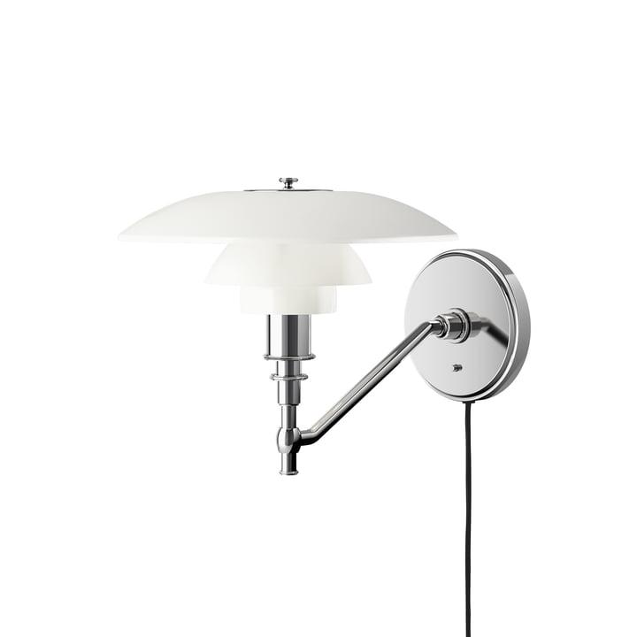 PH 3/2 Wall lamp, opal white from Louis Poulsen