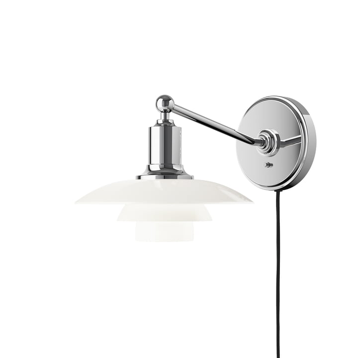 PH 2/1 Wall lamp, opal white from Louis Poulsen