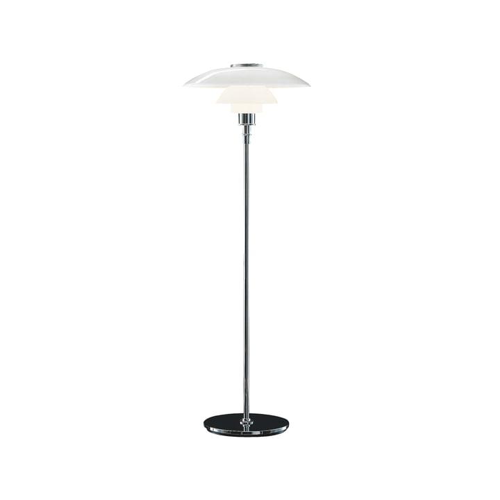 PH 4½-3½ Floor lamp, high-gloss chrome-plated from Louis Poulsen