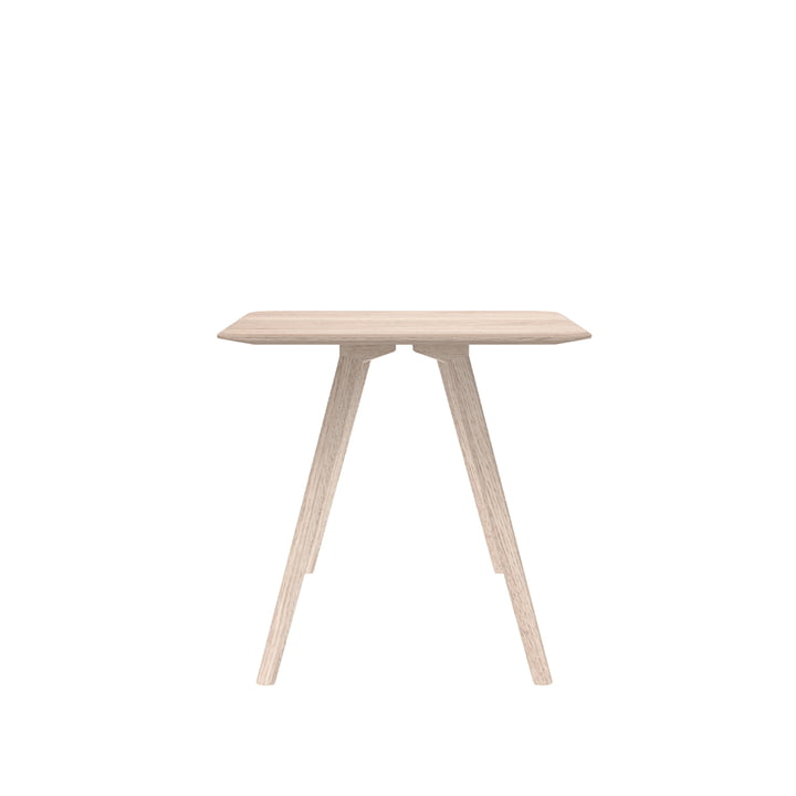 Meyer Table Small 75 x 75 cm, ash waxed with white pigment from Objekte unserer Tage