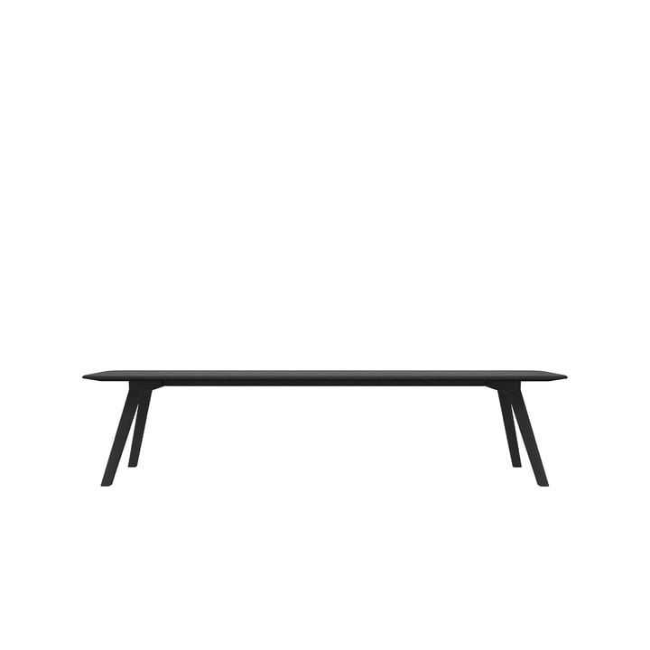 Objekte unserer Tage - Meyer Bench Large 200 cm, oak stained and waxed with black pigment