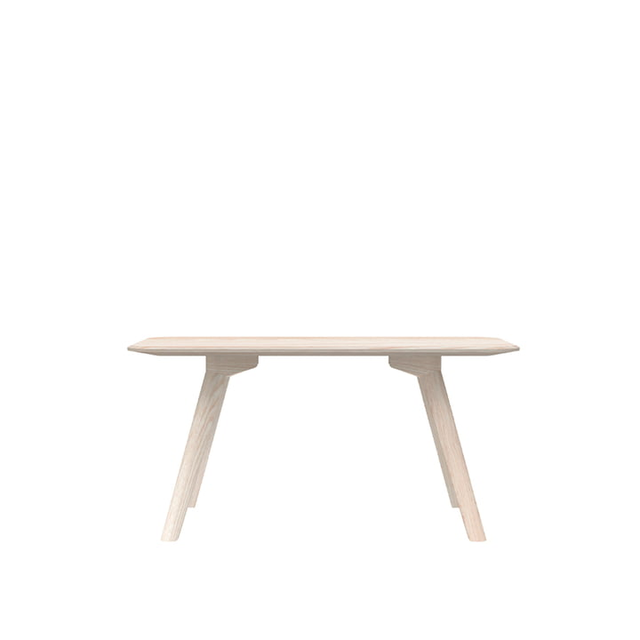 Meyer Bench Small 92 cm, ash waxed with white pigment from Objekte unserer Tage