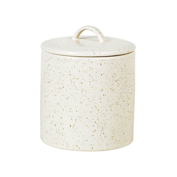 Nordic Vanilla Bowl with lid, Ø 12 x H 12 cm from Broste Copenhagen