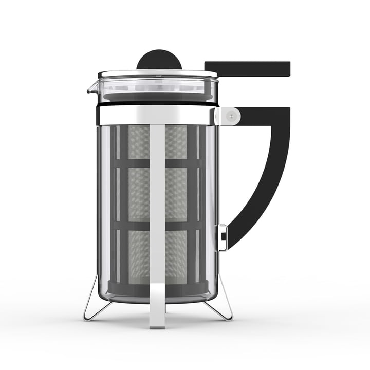 The László coffee maker from Philippi , 1 l, stainless steel